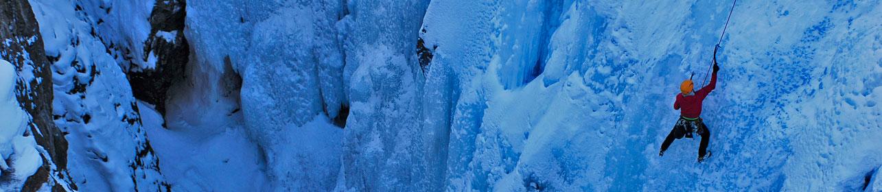 Kids Ice Climbing