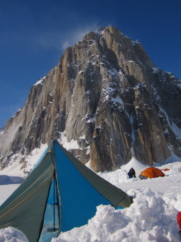 Base camp below Mount Dickey