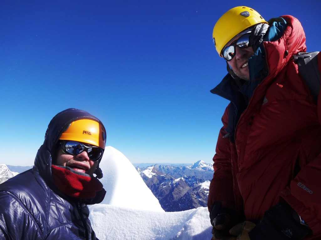 On the summit of Alpamayo!