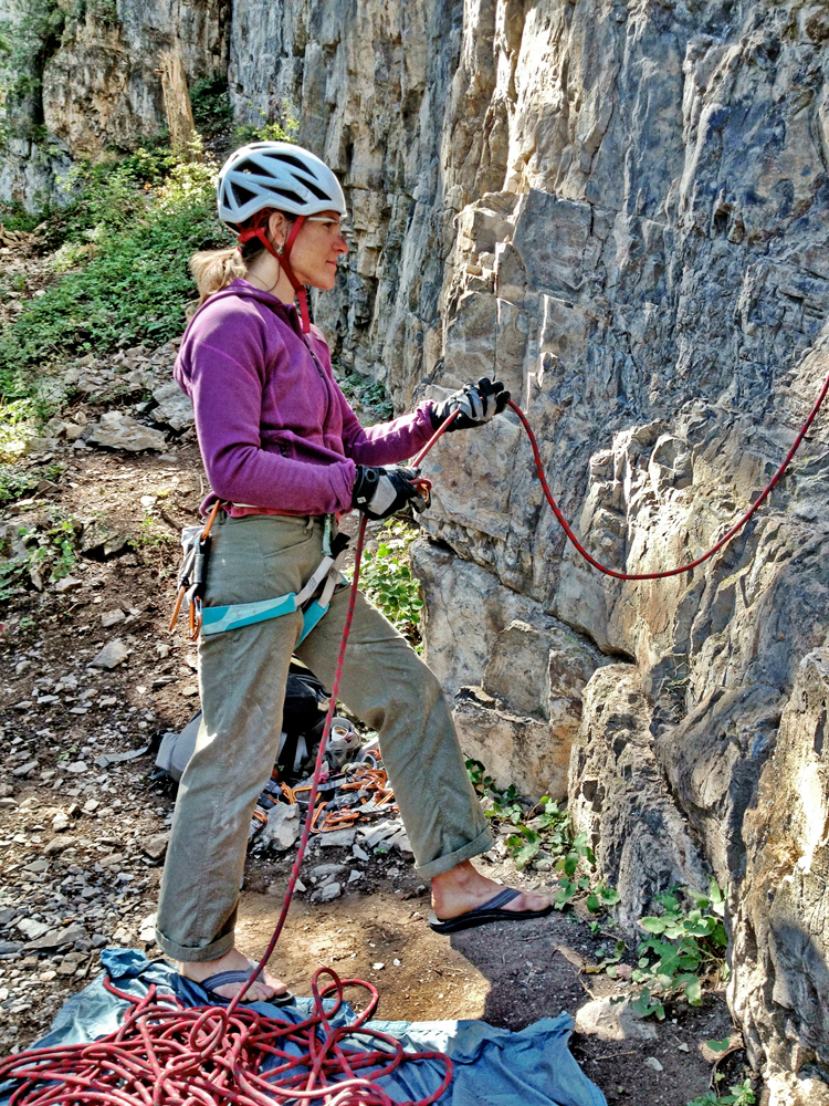 Correct Belaying Position