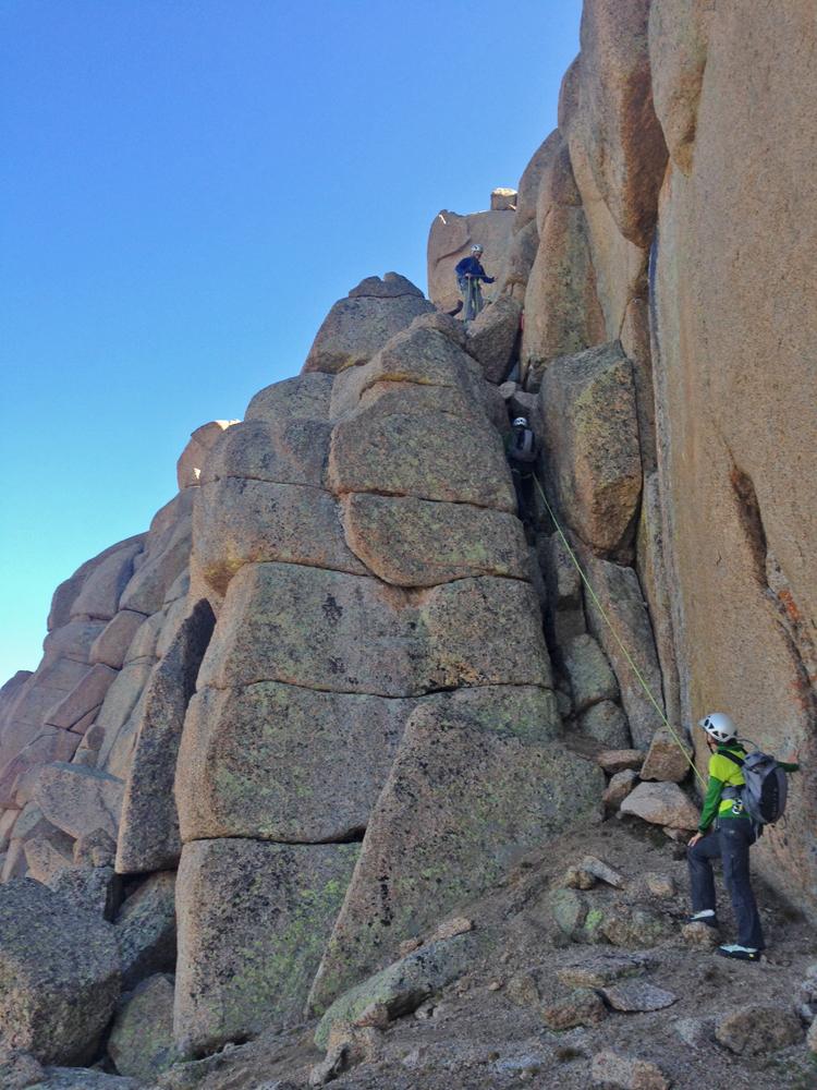 Nearing the summit of Jagged Mountain