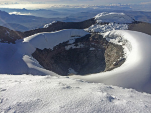 The impressive Crater Rim of Cotopaxi.