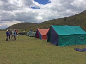 Our camp and tents prior to the summit climb.