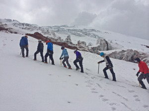 Training on the lower slopes of Cotopaxi