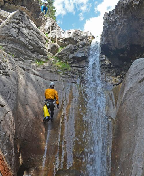 Guided Ouray Canyoning San Juan Mountain Guides Colorado