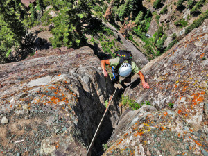 Enjoyable multi-picth rock climbing in Ouray