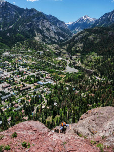 Climbing high above Ouray for stunning views