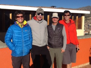 Team is psyched for the journey! (L-R) Andrés, Jaaron, Jim & Stephen