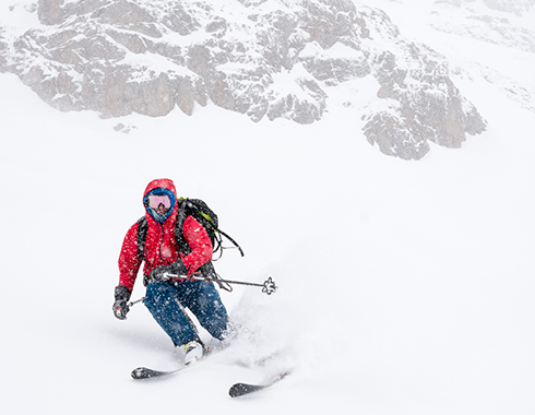 ski touring red mountain pass