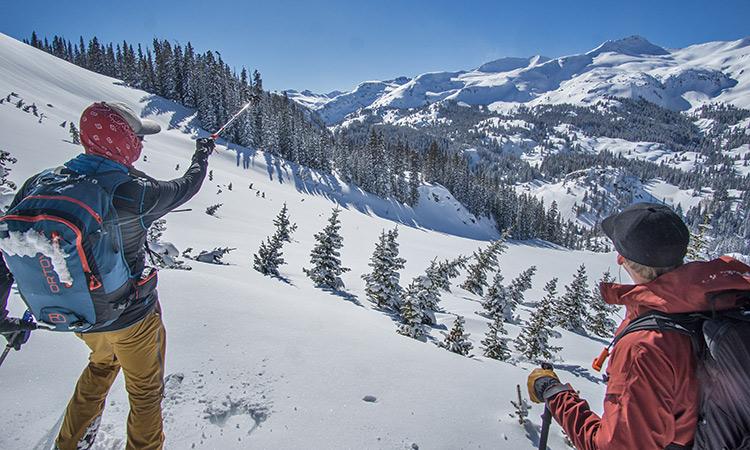 red mountain pass ski mountaineering